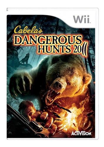 Cabelas Dangerous Hunts 2011 - Nintendo Wii - Usado