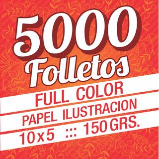 5000 Volantes Folletos Full Color Fte Y Dor - Villa Urquiza