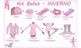 Kit Roupa Uniforme Ballet - Inverno - 9 Peças