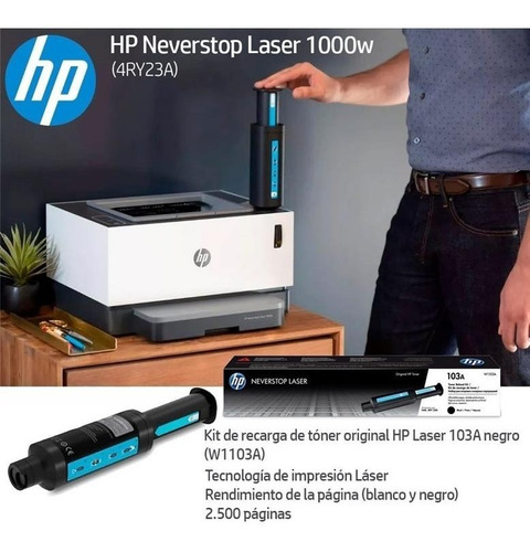 Impresora Laser Hp 1000w Recargable