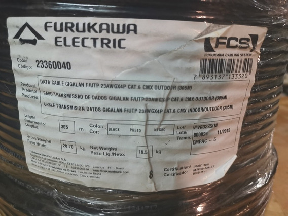 Cable Ftp Cat 6 Exterior Furukawa X 305