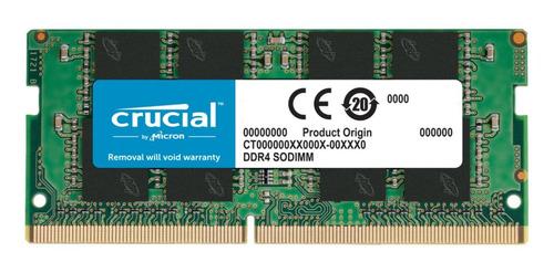 Memória Ram Notebook 16gb 1x16gb Crucial Ct16g4sfra266