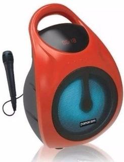 Parlante Portatil Panacom Sp-3050 6.5` Bt C/mic Color Rojo