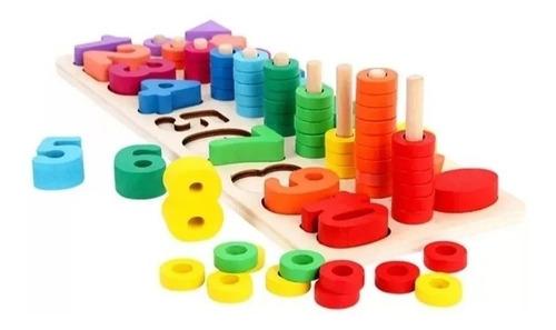 Set Matemática Puzzle Numero Calculo Niños Montessori