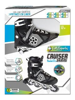 Patines En Linea Negros La Sports Cruiser Skates