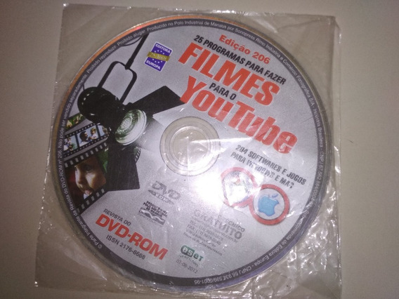 Cd Pc Original - Filmes Para Youtube Revista Dvd-rom #206