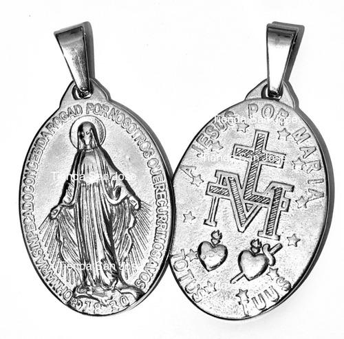 Medalla Y Cadena Consagración Jesus Por Maria