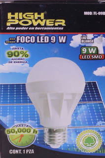 10 Focos Led De 9w High Power
