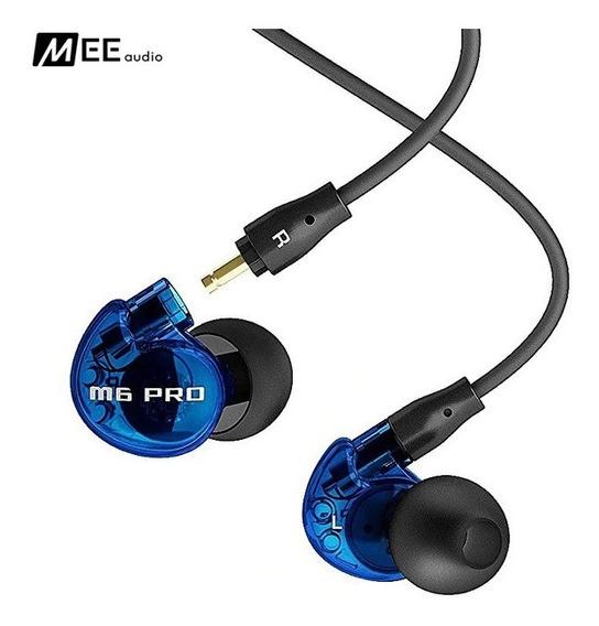 Fone In-ear Mee Audio M6 Pro Retorno Blue Azul Oferta + Nf