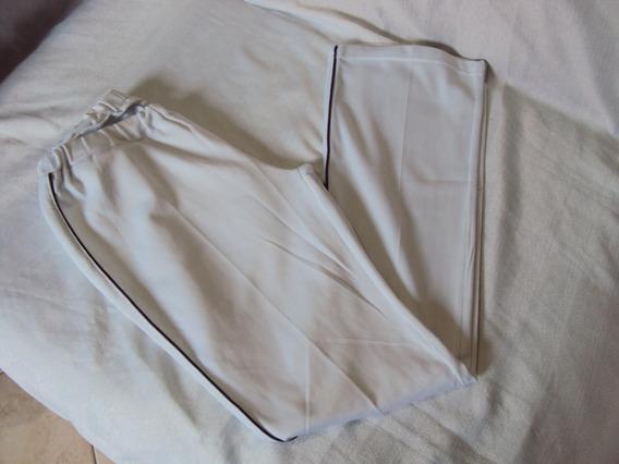 Calça Branca Com Elastico Unissex Tamanho P