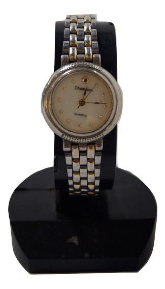 Relógio Vintage Feminino Champion Prateado