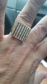 Anel Ouro Com Diamantes.