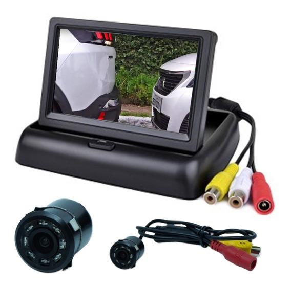 Tela Monitor Veicular 4.3 Vídeo Lcd+ Camera Ré Visão Noturna