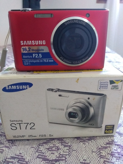 Máquina Fotográfica Samsung St72 16.2mp - Vermelha.
