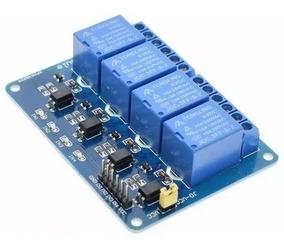 Módulo Relé 4 Canais 5v Com Opto Arduino, Pic, Raspberry Arm