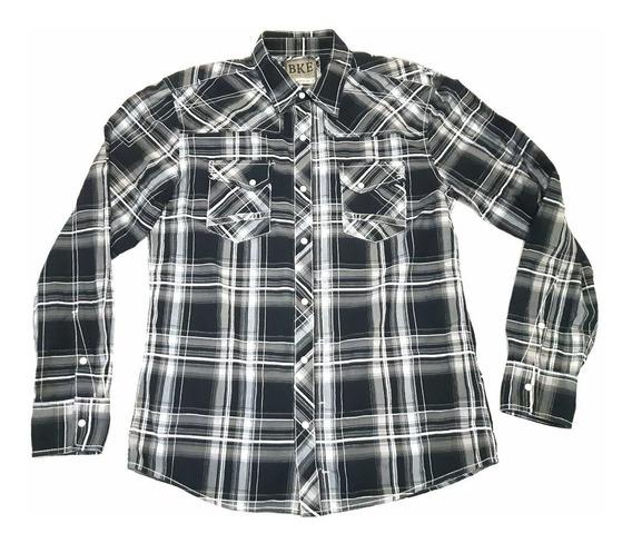 Camisa Tipo Vaquero Bke Since 1967 Athletic Fit Original Seminueva Caballero