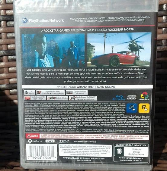Gta 5 Playstation 3 Disco Físico Novo Lacrado Português Cd
