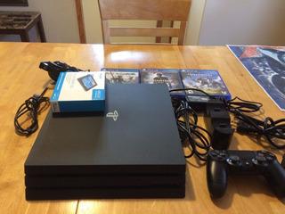 Consola De Juegos Sony Playstation 4 Pro 1tb - Negro