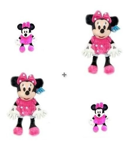 Kit 2 Minnie Rosa De 50cm + 2 Minnie Rosa De 27cm