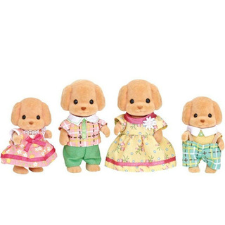Sylvanian Families Familia Dos Poodles Toy Epoch Magia