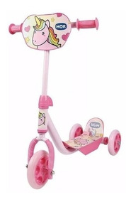 Patinete 3 Rodas Infantil Unicornio Rosa Menina Nfe Garantia