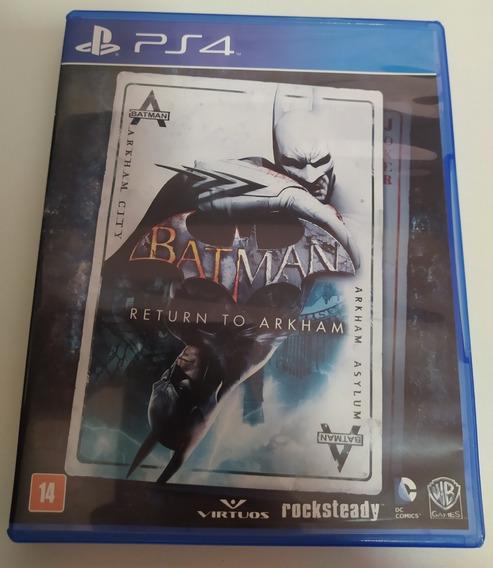 Batman Return To Arkham Ps4 Mídia Física Usado