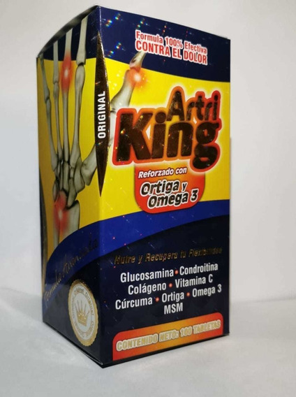 Artri King Frasco Con 100 Tabletas Ortiga Y Omega 3