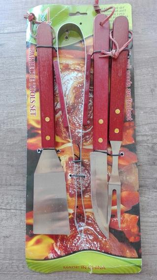 Set Asado 4 / Cuchillo+espatula+tenedor+pinza