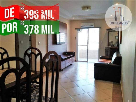 Apartamento Com 3 Dormitórios À Venda, 100 M² Por R$ 378.000,00 - Canto Do Forte - Praia Grande/sp - Ap10639