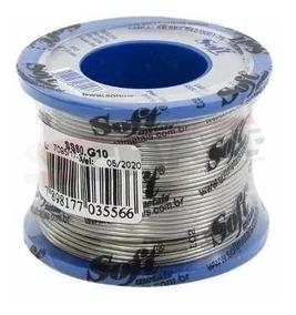 Carretel Rolo Fio De Solda Estanho 1mm 200g 60x40 Soft Metal