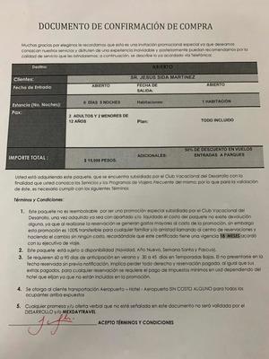 Paquete Vacacional