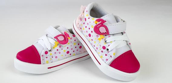 Tenis Bebe Feminino Menina Infantil Flamingo Casual Barato