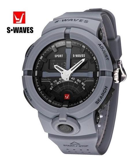 Relógio Swaves Esportivo. Pronta Entrega. Super Diferente.