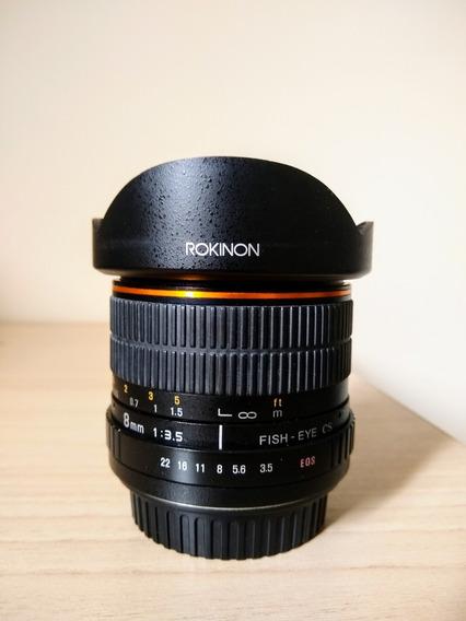 Lente 8mm Para Canon - Olho De Peixe Hd