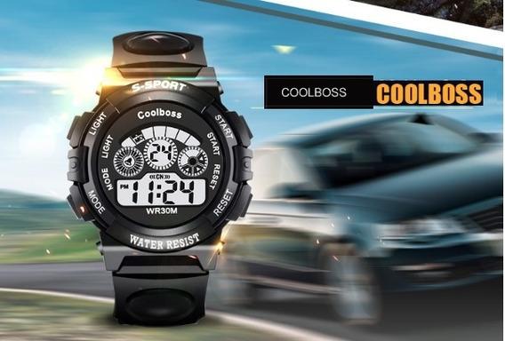 Coolboss Relógio Digital Led Sports A Prova D`água Alar Cron