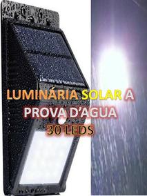 Luminária Solar 30 Leds - Menor Preço Com Certeza, Aproveite