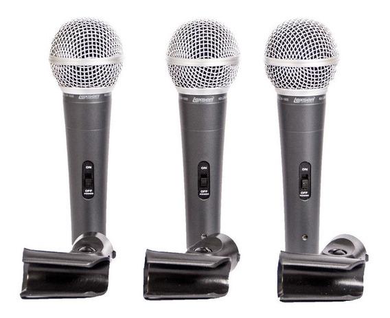 Kit Lexsen Lcm1800 C/3 Microfones E Clip - Ac1556
