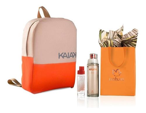 Imagen 1 de 1 de Perfume Kaiak Clasico + Mini + Morral Natura Original