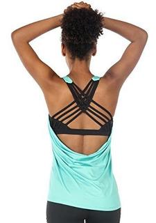 Icyzone Yoga Tops Entrenamientos Ropa Activewear Construido