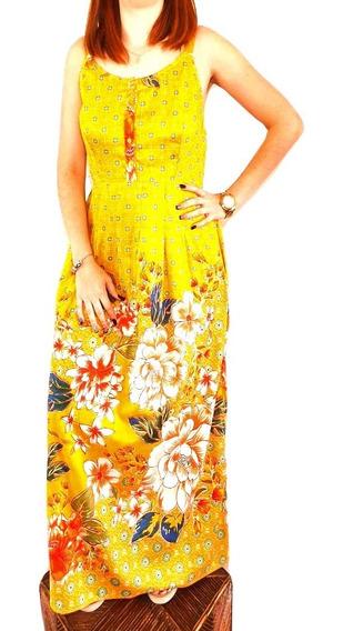 Lindo Vestido Longo De Viscose (3245)