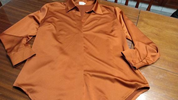 Camisa Calyx Ladrillo/bordo T L/xl