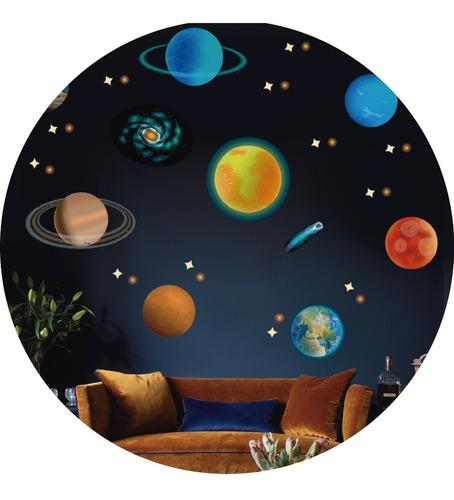 Vinilos Decorativos Planetas Sistema Solar Galaxia Espacio