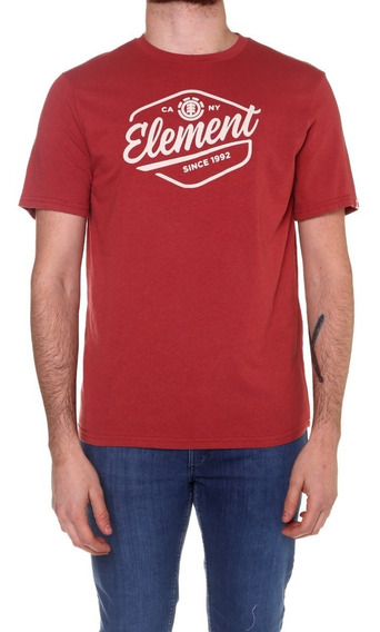 Remera M/c Element Swash Tee Red Hombre - 21197002