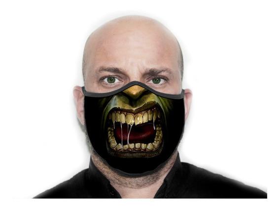 Máscara De Proteção Personalizada Hulk Zombie - Ref ( 05 )