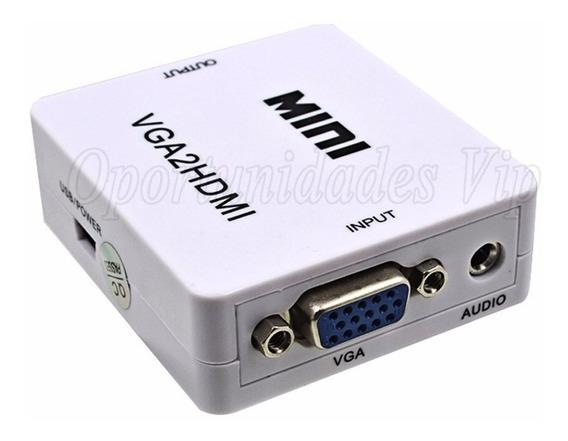 Conversor Adaptador Vga Hdmi Full Hd Vga2hdmi Audio Video