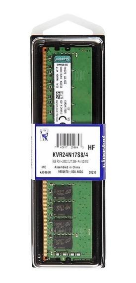 Memória RAM 4GB 1x4GB Kingston KVR24N17S8/4