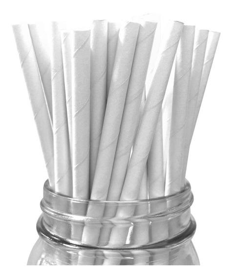 Popotes De Papel Biodegradable 100% Ecologico Estuchado