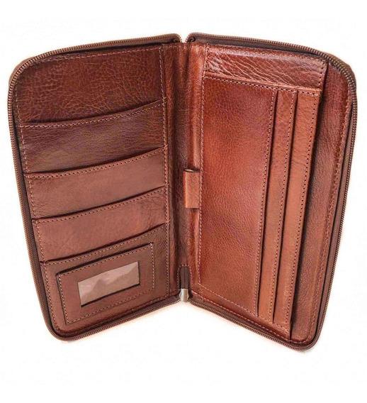 Porta Pasaporte Cuero Organizador Porta Documentos Viaje