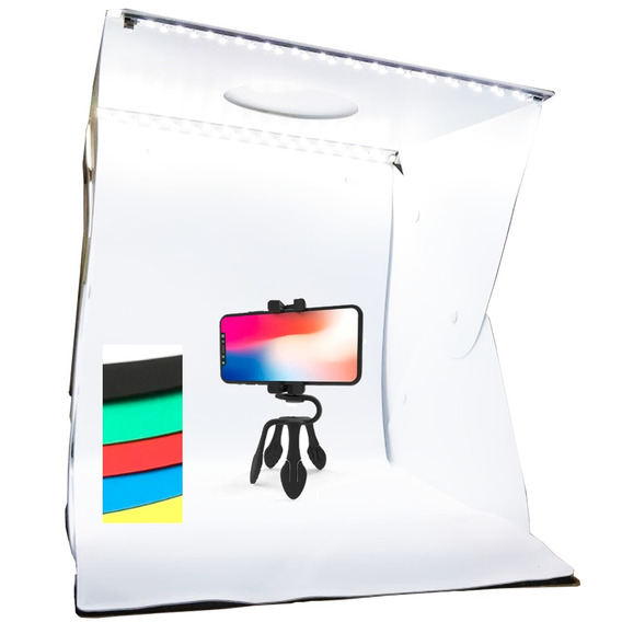 Mini Estúdio De Fotografia Photo Studio Box 40cm 6 Fundos