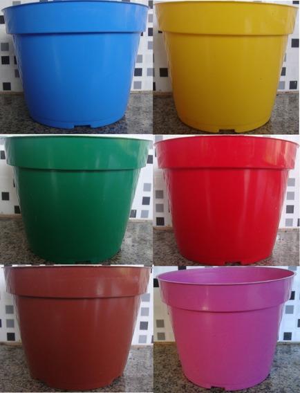 50 Vaso Pote Vf 13 Colorido 800ml Mudas De Rosa Do Deserto